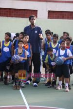 A C Green pose at opening of NBA_s basketball court in Nagpada, Mumbai on 8th April 2009 (5).JPG