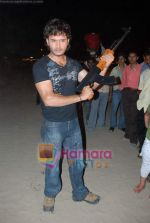 Kasab on location of film Total Ten in Chowpatty on 22nd April 2009 (8).JPG