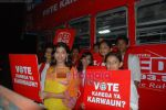 Priyankaa canvassing for the Red FM 93.5 Vote Karo Ya Karwaun cause on 28th April 2009 (17).JPG
