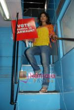Priyankaa canvassing for the Red FM 93.5 Vote Karo Ya Karwaun cause on 28th April 2009 (18).JPG