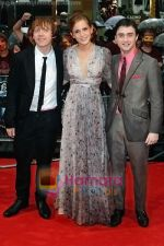 Rupert Grint, Emma Watson, Daniel Radcliffe at the UK Premiere of movie HARRY POTTER AND THE HALF BLOOD PRINCE on 7th JUly 2009 in Odeon Leicester Square.jpg