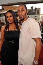 Talani Rabb, RZA at the LA Premiere of FUNNY PEOPLE on 20th July 2009 at ArcLight Hollywood, California.jpg