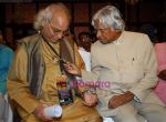 Abdul Kalam, Pandit Jasraj at musicians forum in Bandra Kurla Complex, Mumbai on 9th Aug 2009 (3).jpg