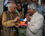 Abdul Kalam, Pandit Jasraj at musicians forum in Bandra Kurla Complex, Mumbai on 9th Aug 2009 (8).jpg