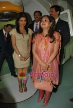 Priyanka Chopra, Tina Ambani at the launch of Novaltis Radiosuregery scanner for tumors in Ambani Hospital on 16th Aug 2009 (10).JPG