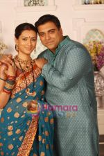Ram Kapoor & Pallavi Subhash in the Serial Basera on NDTV Imagine (3).JPG