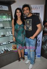 Sophie Chaudhary and Aashish Chaudhary at the launch of Lucera collection at Gitanjali in Infinity Mall on 19th Aug 2009 (13).JPG