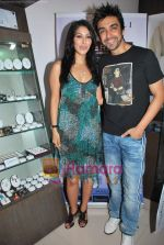 Sophie Chaudhary and Aashish Chaudhary at the launch of Lucera collection at Gitanjali in Infinity Mall on 19th Aug 2009 (15).JPG