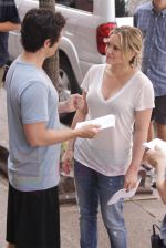 Hilary Duff and Penn Badgley On The Set Of GOSSIP GIRL in New York City on 26th August 2009 (40).jpg