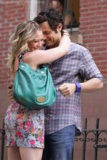 Hilary Duff and Penn Badgley On The Set Of GOSSIP GIRL in New York City on 26th August 2009 (44).jpg