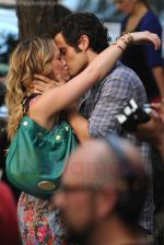 Hilary Duff and Penn Badgley On The Set Of GOSSIP GIRL in New York City on 26th August 2009 (8).jpg