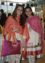 Nandinii Sen with Mana Shetty at Araaish exhibition in Blue Sea on 6th Oct 2009.jpg