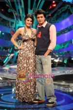 Jacquline fernandis and ritesh deshmukh on Comedy Circus 3 on 20th Oct 2009 (2).JPG