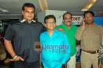 daya, pradeep welentar, Shivaji satam & Abhijit of CID at the Premiere of Marathi film CANVAS in Cinemax on 28th Oct 2009.JPG