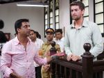 Neil Mukesh, Madhur Bhandarkar in the still from movie Jail (2).JPG