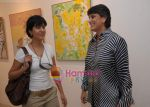 Kitu Gidwani with Geeta Pundit at Sunita Kumar_s art exhibition in Jehangir on 25th Nov 2009.JPG