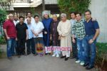 Vishal Dadlani, Sameer, Sulaiman Merchant, Jagjit Singh, Javed Akhtar, Aadesh Shrivastav, Lalit Pandit at Musicians thank Indian Govt for Royalties in Press Club on 29th Dec 2009 (11).JPG
