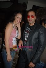 Roza and Rohit Roy at Rahul Aggarwal_s Birthday Bash in Penne on 15th Jan 2010.jpg