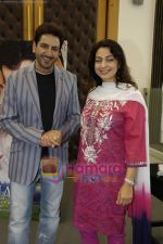 Juhi Chawla, Gurdas Maan at the press conference of film Sukhmani- Hope for Life in Mumbai on 28th Jan 2010 (9).JPG