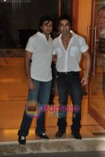 Ritesh Deshmukh, Aashish Chaudhary at Sanjay Dutt_s wedding anniversary bash in Bandra on 12th Feb 2010 (4).JPG