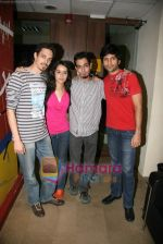 Siddharth Kher, Sharadha Kapoor, Dhruv Ganesh, Vaibhav Talwar at Big Fm in Andheri on 16th Feb 2010 (14).JPG