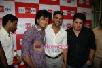Akshay Kumar, Ritesh Deshmukh, Sajid Khan at Housefull music launch in Big Fm on 15th March 2010 (5).JPG