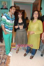 Sarika, Seema Biswas, Javed Jaffery at Smita Thackeray_s film Mahurat Society  in Four Bungalows on 15th March 2010 (3).JPG