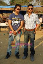 Irrfan Khan, Rannvijay Singh of the sets of MTV Roadies in Andheri on 23rd March 2010 (11).JPG