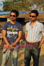 Irrfan Khan, Rannvijay Singh of the sets of MTV Roadies in Andheri on 23rd March 2010 (15).JPG
