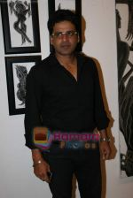 Manoj Bajpai at poet and artist Kiran Chopra_s exhibition in Jehangir art gallery on 25th March 2010 (10).JPG