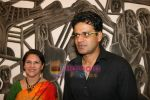 Manoj Bajpai at poet and artist Kiran Chopra_s exhibition in Jehangir art gallery on 25th March 2010 (7).JPG
