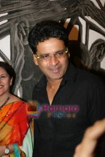Manoj Bajpai at poet and artist Kiran Chopra_s exhibition in Jehangir art gallery on 25th March 2010 (8).JPG