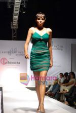 Model walks the ramp for Umair Zafar show in Rennaisance Club on 31st March 2010.JPG