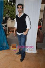 karan johar at Twinkle Khanna_s The White Window  launch of holiday line Villa Tara in Bandra on 9th April 2010.JPG