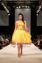 Model walks the ramp for Nisha Sagar in Dubai Fashion Week 2010 on 10th April 2010.JPG