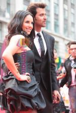 Barbara Mori and Hrithik Roshan at Kites London premiere on 18th May 2010.JPG