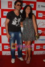 Hrithik Roshan and Barbara Mori at BIG FM Studios to greet the winners of Love Unlimited contest on 21st May 2010 (33).JPG
