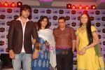 Harshad Chopra, Neha Janpandit, Ekta Kapoor at the launch of new serial on Star Plus Tere Liye in J W Marriott on 1st June 2010 (20).JPG