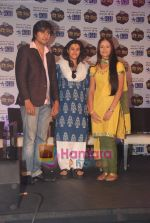 Harshad Chopra, Neha Janpandit, Ekta Kapoor at the launch of new serial on Star Plus Tere Liye in J W Marriott on 1st June 2010 (4).JPG
