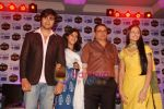 Harshad Chopra, Neha Janpandit, Ekta Kapoor at the launch of new serial on Star Plus Tere Liye in J W Marriott on 1st June 2010 (9).JPG