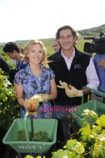 Scarlett Johansson and Benoit Gouez at Moet Chandon event.JPG