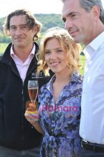 Scarlett Johansson, Daniel Lalonde and  Benoit Gouez at Moet Chandon event.JPG