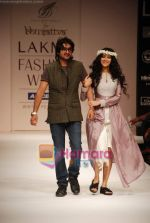 Nandana Sen walks the ramp for Digvijay Singh Show at Lakme Winter fashion week day 1 on 17th Sept 2010 (17).JPG