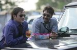 Ajay Devgan, Akshay Khanna in the still from movie Aakrosh (4).JPG