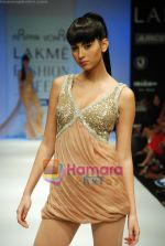 Model walks the ramp for Arpan Vohra Show at Lakme Winter fashion week day 3 on 19th Sept 2010 (18).JPG