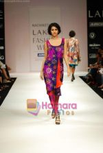 Model walks the ramp for Nachiket Barve Show at Lakme Winter fashion week day 3 on 19th Sept 2010 (10).JPG