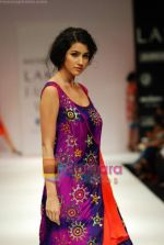 Model walks the ramp for Nachiket Barve Show at Lakme Winter fashion week day 3 on 19th Sept 2010 (13).JPG