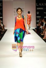 Model walks the ramp for Nachiket Barve Show at Lakme Winter fashion week day 3 on 19th Sept 2010 (17).JPG