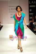 Model walks the ramp for Nachiket Barve Show at Lakme Winter fashion week day 3 on 19th Sept 2010 (5).JPG
