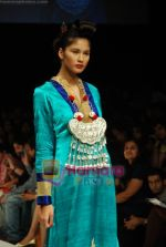 Model walks the ramp for V J Balhara Show at Lakme Winter fashion week day 3 on 19th Sept 2010 (77).JPG